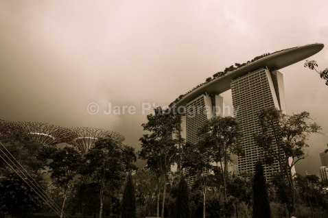 Rain's coming towards Marina Bay Sands